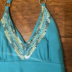 Dresses - Too Cute! VS Sequin Trim Halter Dress